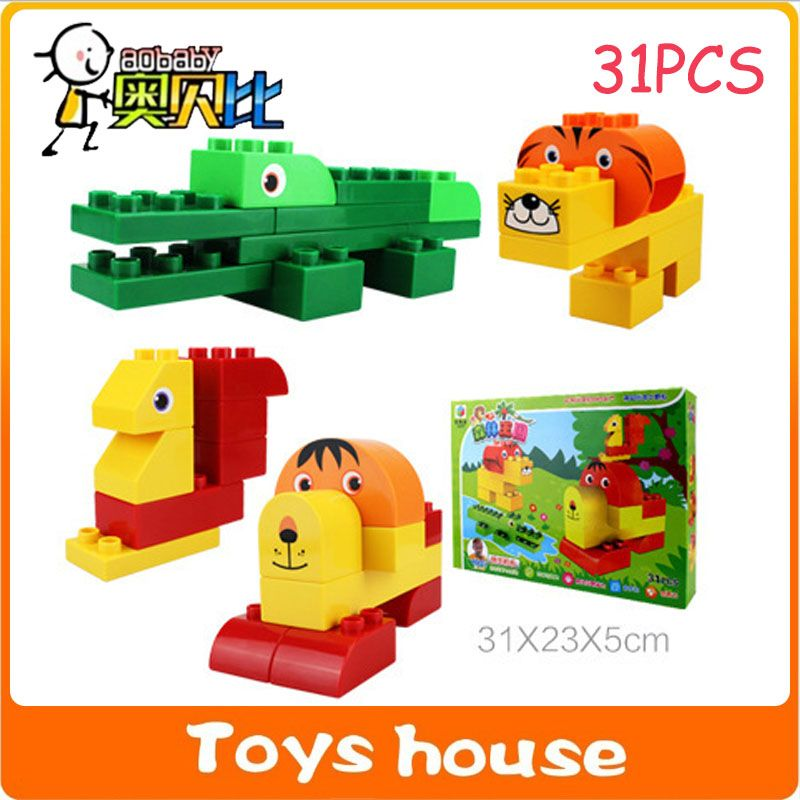 31PCS Building Blocks Mega Construction Toys Toddlers Models Toy Educational