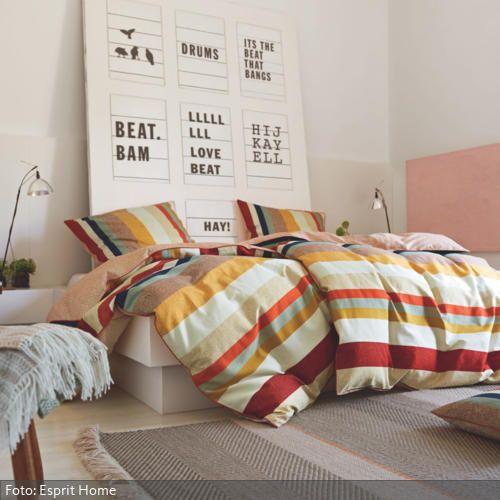 Gemusterte Stoffe: Punkte, Streifen & Co. im Schlafzimmer | roomido.com
