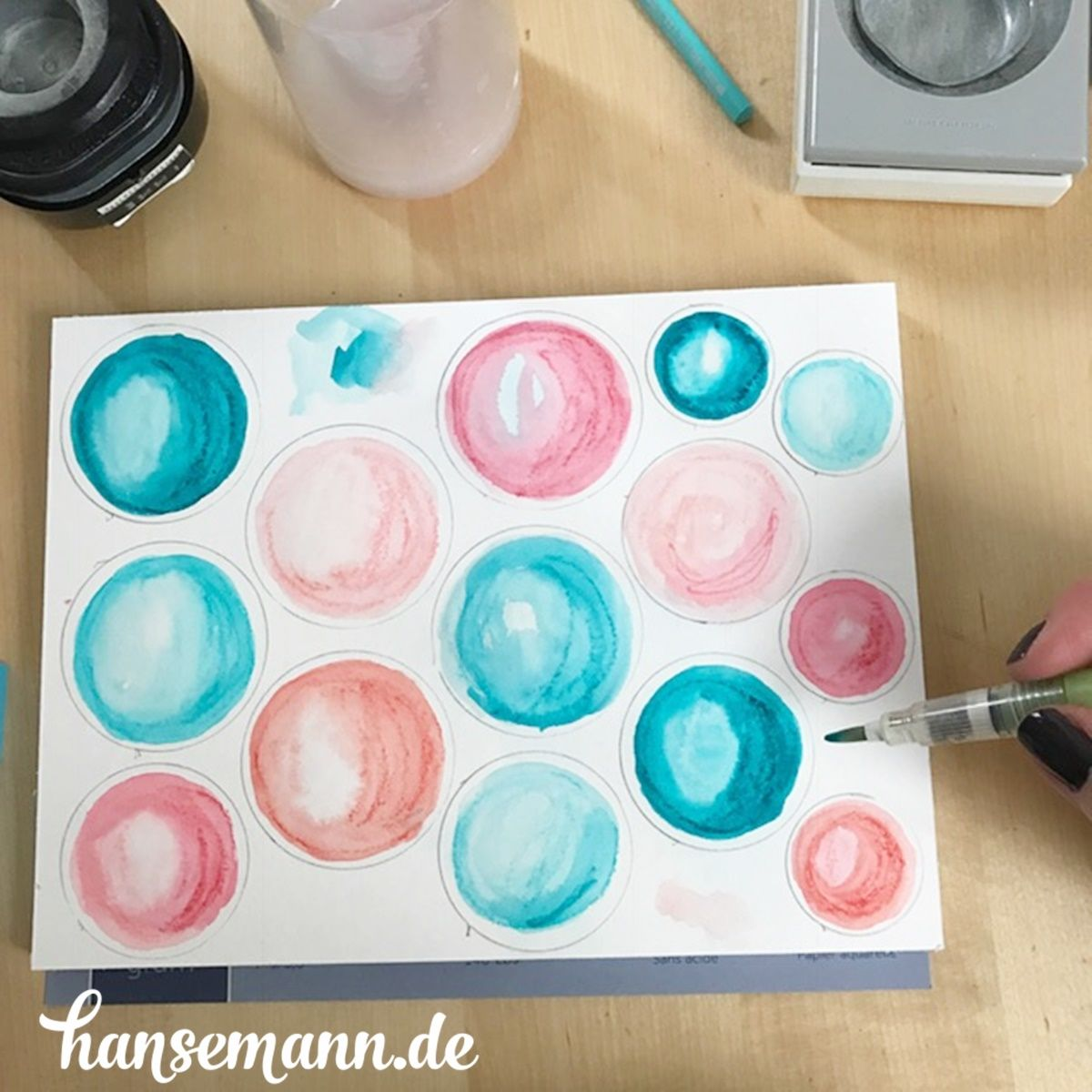 Diy Aquarell Kreise Selber Machen Easy Peasy In 2020