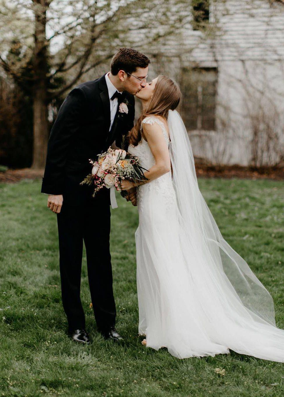 Emily & Chuck | Sara Gabriel \'Lauren\' veil | Sarah Janks | The Gown ...