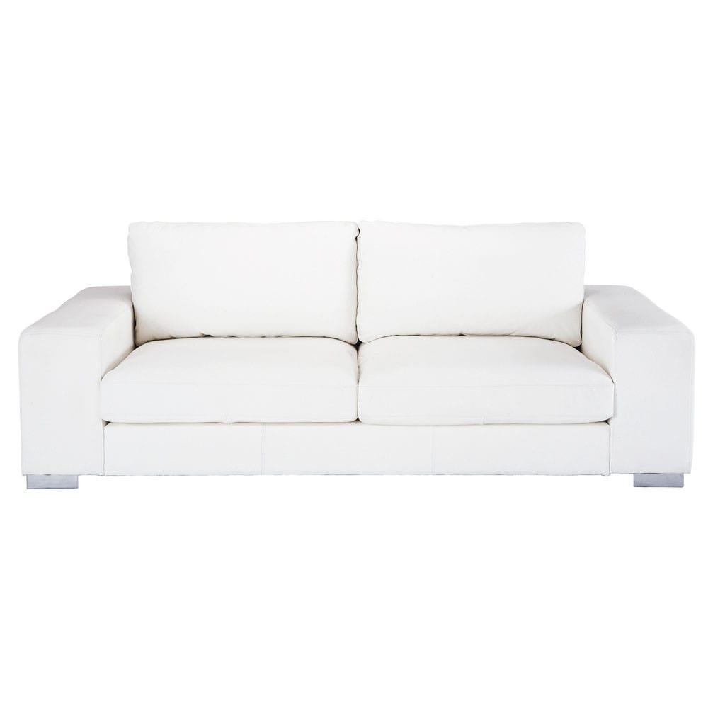 Canape 3 4 Places En Cuir Blanc Cuir Blanc Canape Maison Du Monde Et Canape Blanc Cuir