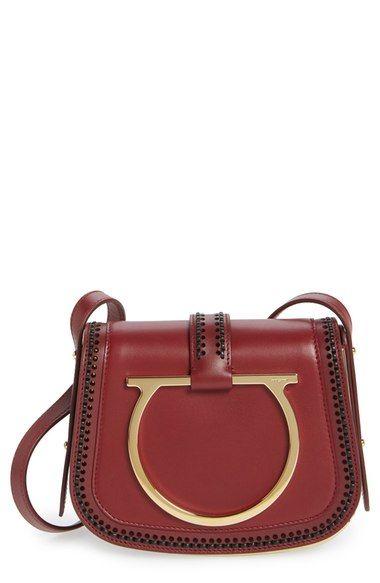 SALVATORE FERRAGAMO  Sabine  Nappa Leather Saddle Bag ... 01ed240f2757a