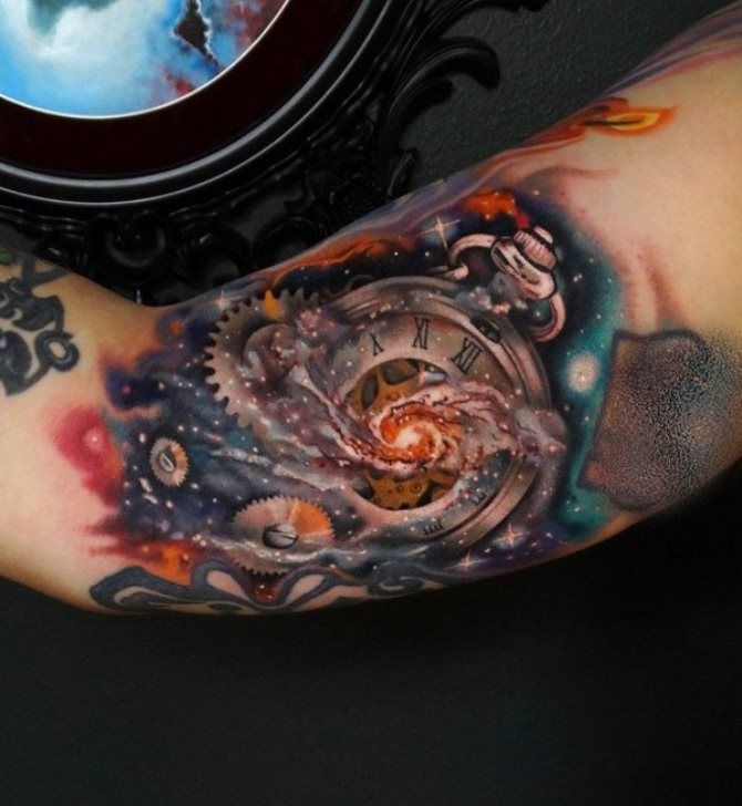 Space Sleeve Tattoos Space Tattoo Inner Bicep Tattoo Astronomy Tattoo