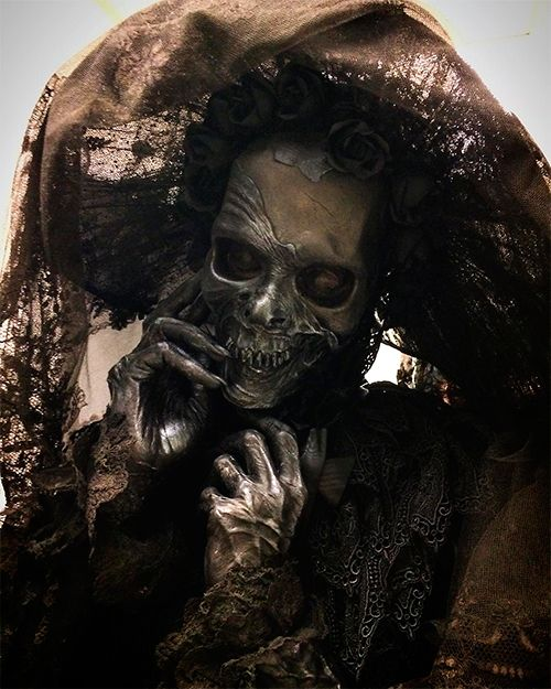 "Crimson Peak: David Marti (Special fx make-up artist): ""Edith's Mother beautifully dressed by Kate Hawley and her team. January 2014"" https://instagram.com/p/9ghJu4mQwX/ More photos: https://instagram.com/daviddtsfx/"