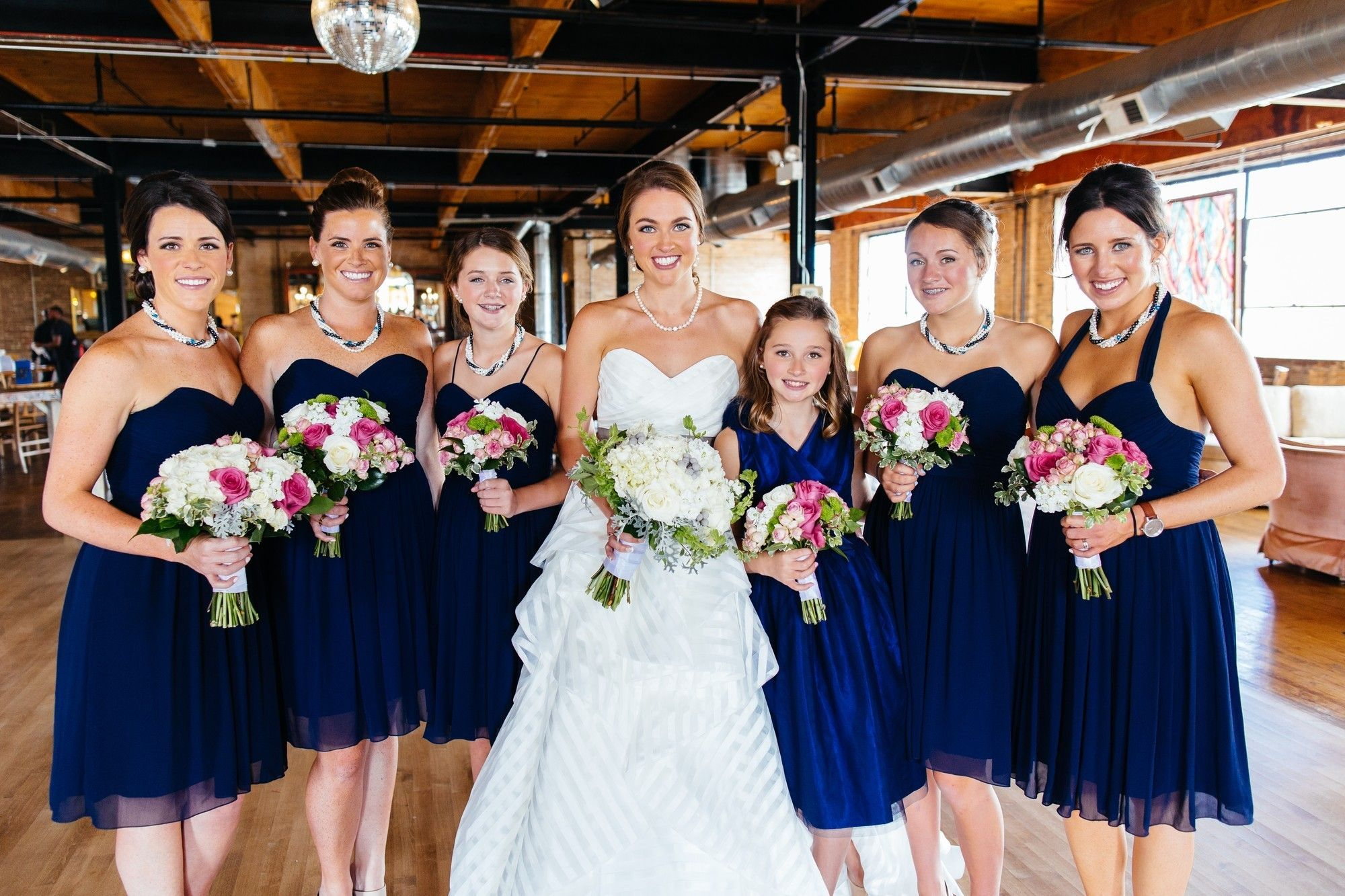 Beautiful bridesmaids in blue our bride molly and her maids in find this pin and more on bridesmaid dresses to rent at vow ombrellifo Image collections