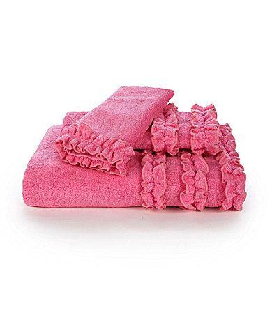 20 Bath Towel Echo Quot Ruffle Quot Bath Towels Dillards Com Pink Bath Towels Pink Power