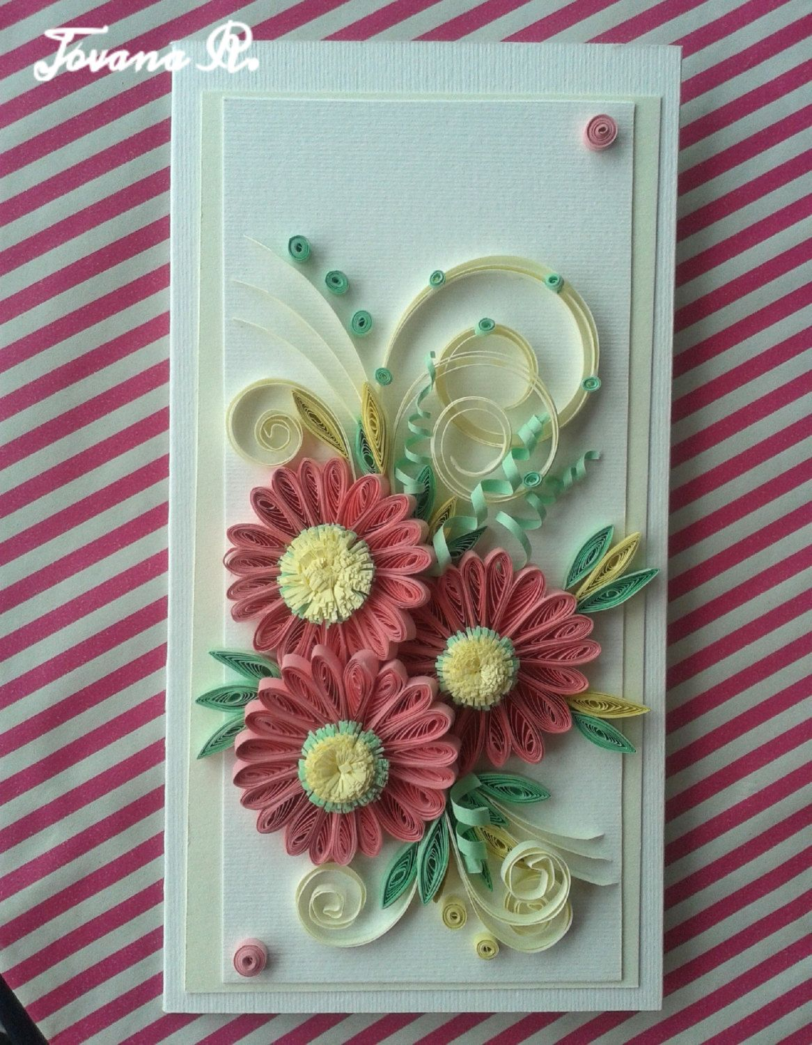Quilling Card Handmade Greeting Card Mothers Day Quilling Card