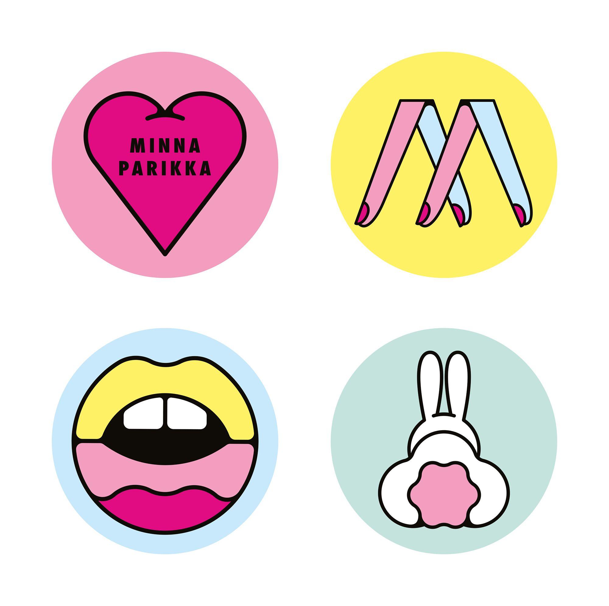 minna parikka stickers by craig amp karl illustration
