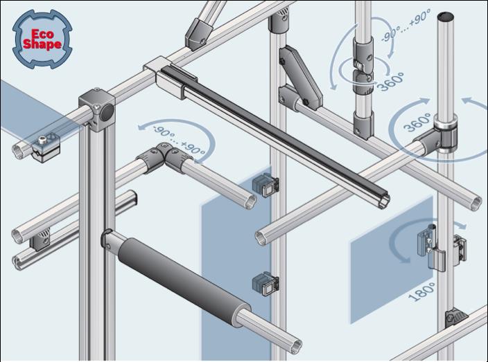 Ecoshape Modular Aluminum Tubular Framing System Bosch