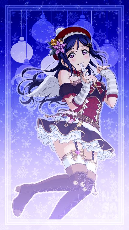 """Aqours Christmas v2 Wallpaper Set transparent edits done"