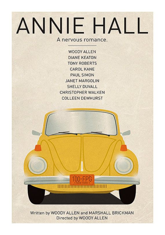 Movie Poster Annie Hall Colour Print Plakat Filmowy Pinterest