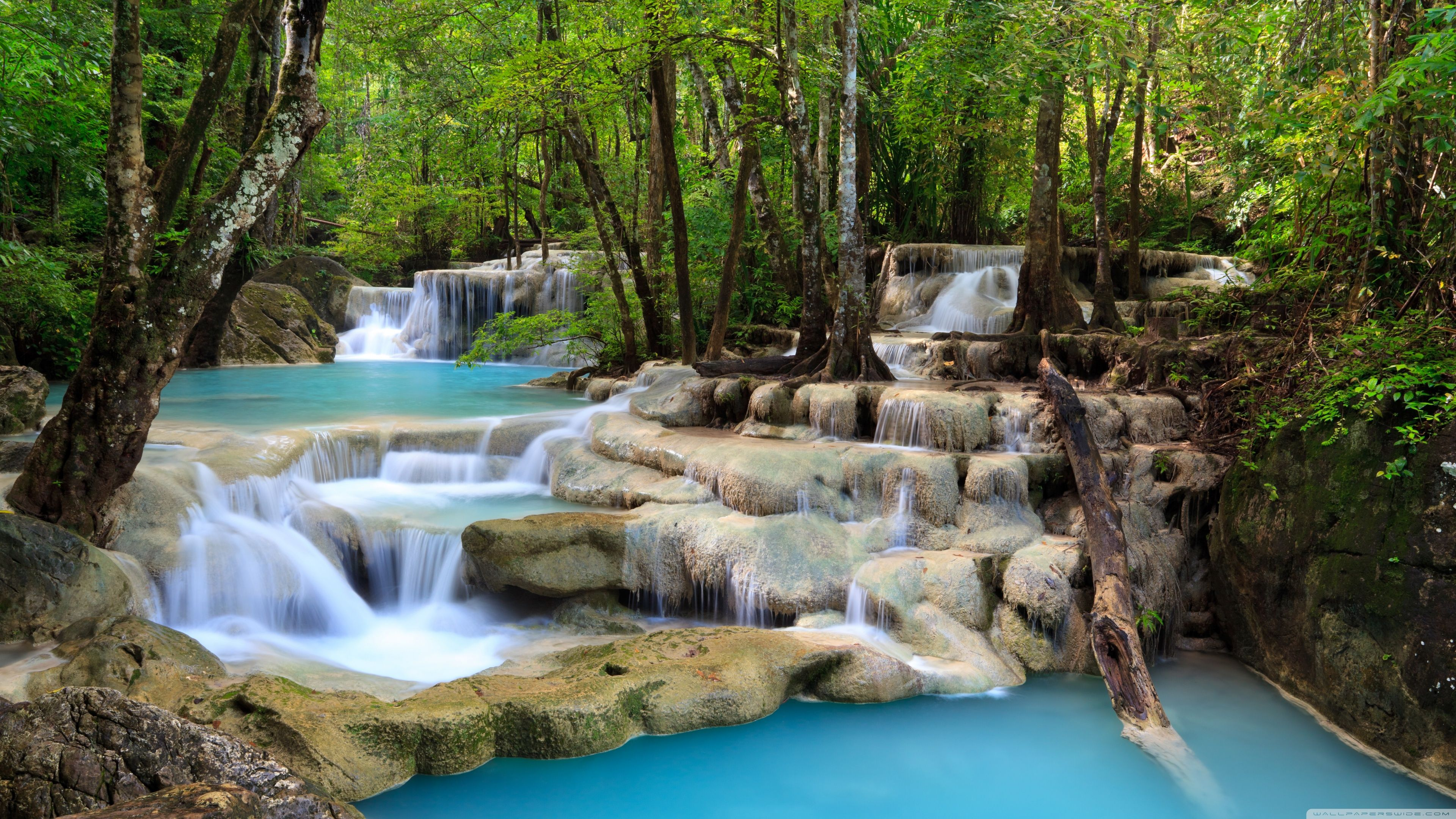 Tropical Waterfall Hd Desktop Wallpaper Widescreen High Waterfall Scenery Waterfall Wallpaper Waterfall