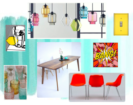 Pop Art Inspired Dining Room