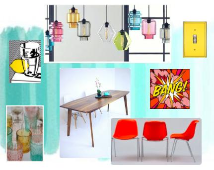 Pop Art Inspired Dining Room
