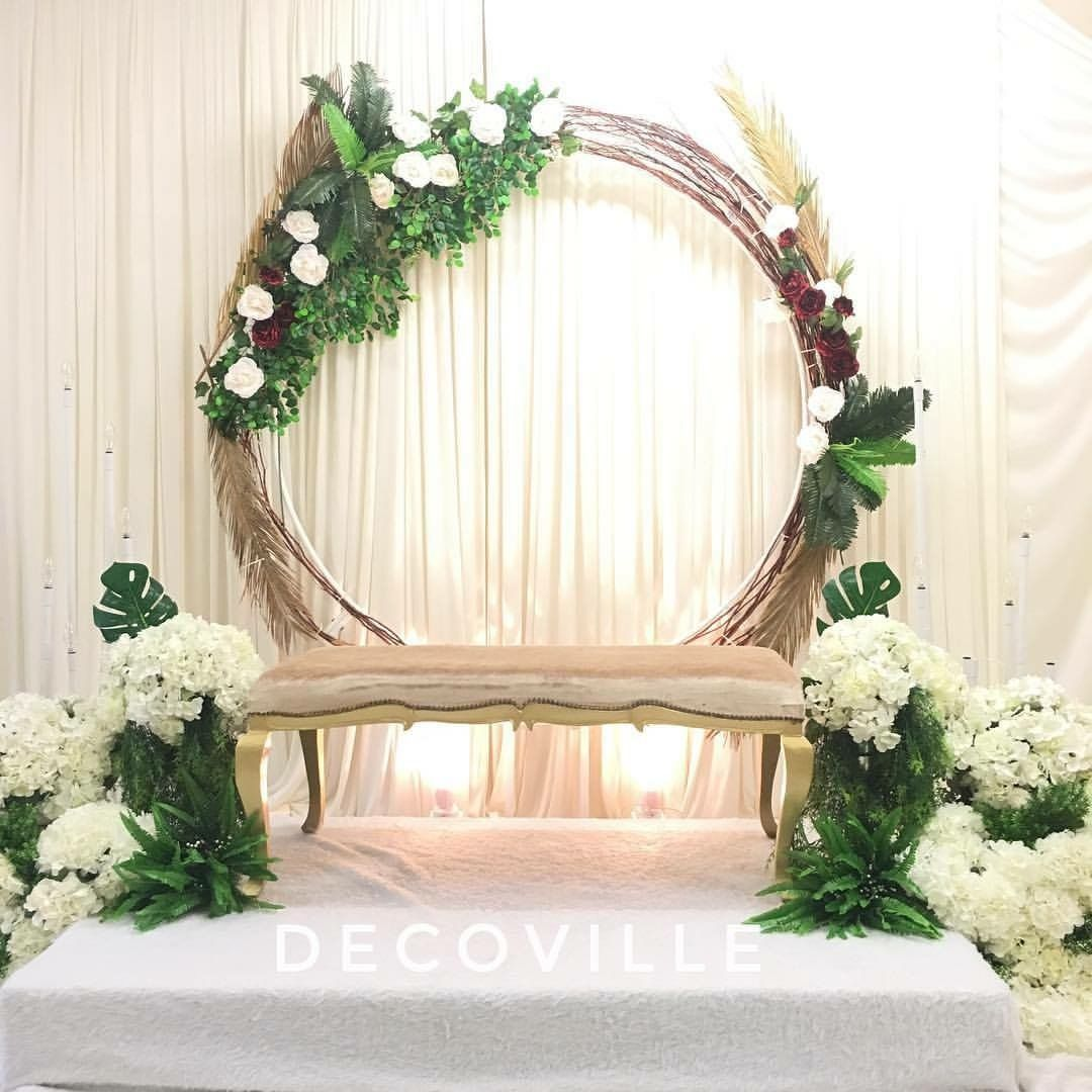 Pelamin Spiral for Tunang or Akad Nikah.   Country wedding decor ...