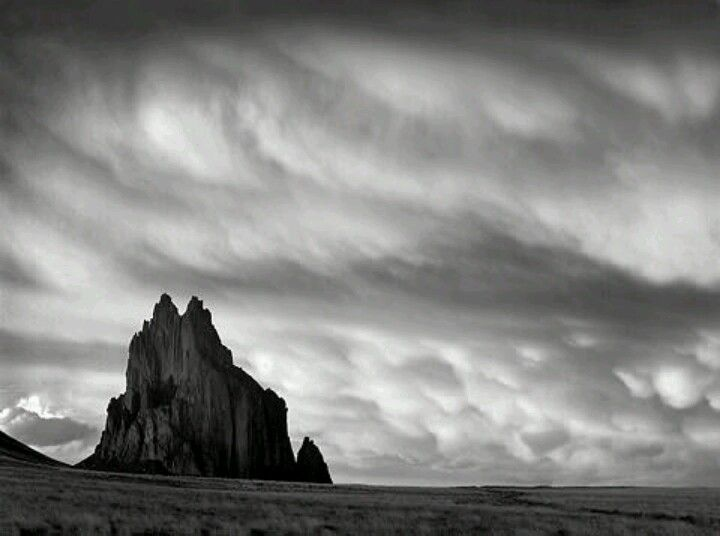 Shiprock and storm shiprock new mexico black and white limited edition photograph