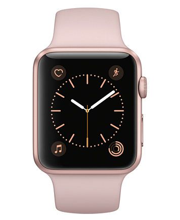Apple Watch Series 2 42mm Rose Gold Aluminum Case With Pink Sand Sport Band Macys Com Buy Apple Watch Apple Watch