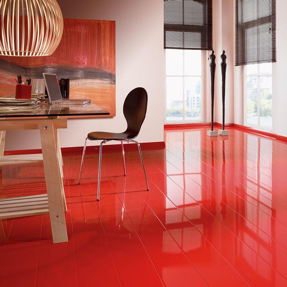 Elesgo Glamour Life Super Gloss Red Wood Laminate Floor