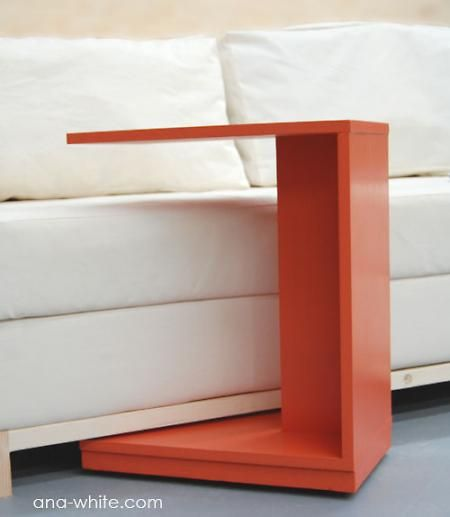 Rolling C End Table Or Sofa Table Diy Furniture Plans Diy Furniture Furniture Diy