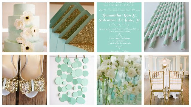 Pinklet And C Mint Gold White Wedding Inspiration