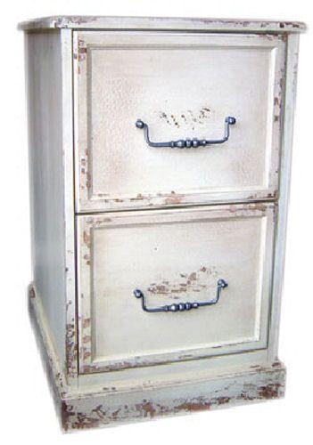 distressed wood swindon 2 drawer file cabinet antique european new ebay