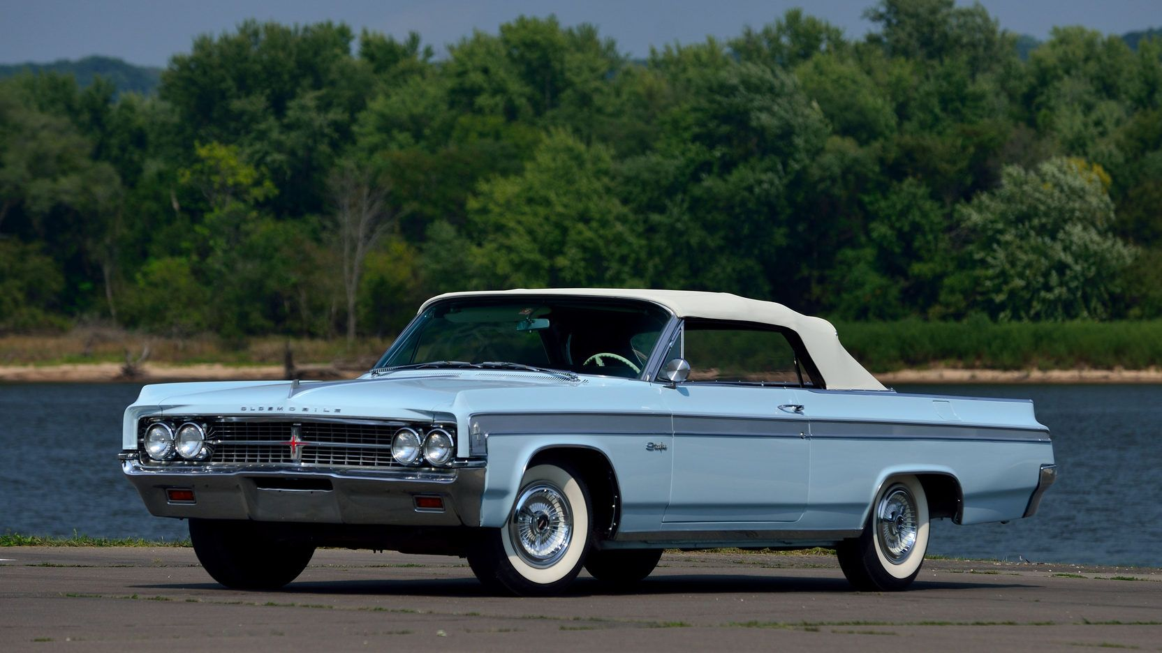 1963 Oldsmobile Starfire Convertible Presented As Lot S96 At Schaumburg Il Oldsmobile Starfire Pontiac Catalina