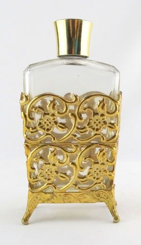 Vintage Gold Filigree Perfume Bottle - Truly unique!