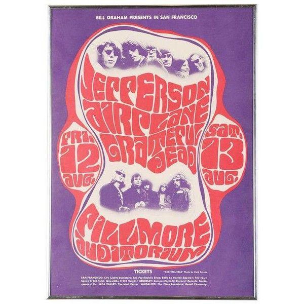 Vintage Grateful Dead in San Francisco Concert Poster ($1,100 ...