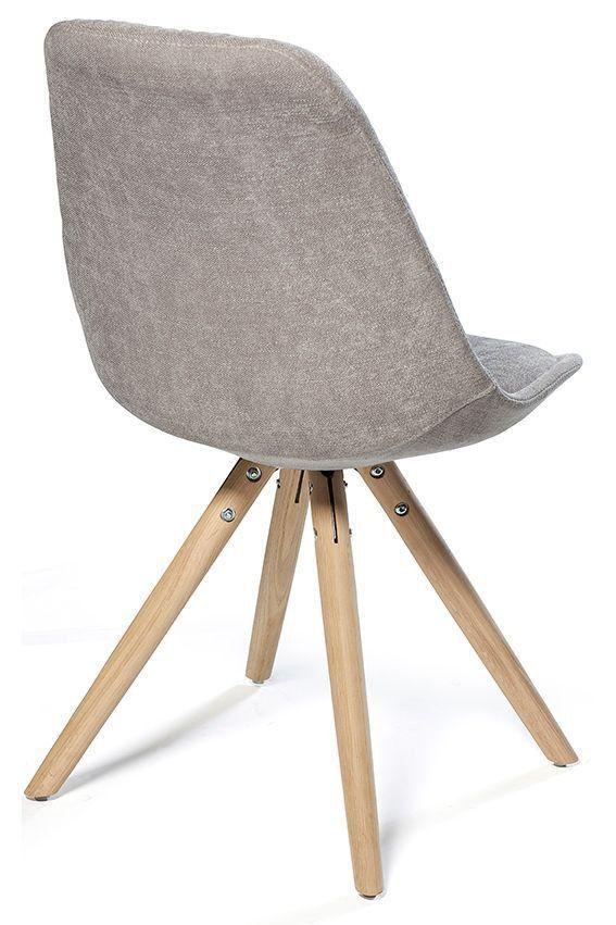 Moderne spisestol i skandinavisk design, trukket i et tøft grått ...