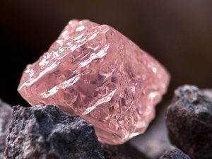 12.76 carat pink diamond