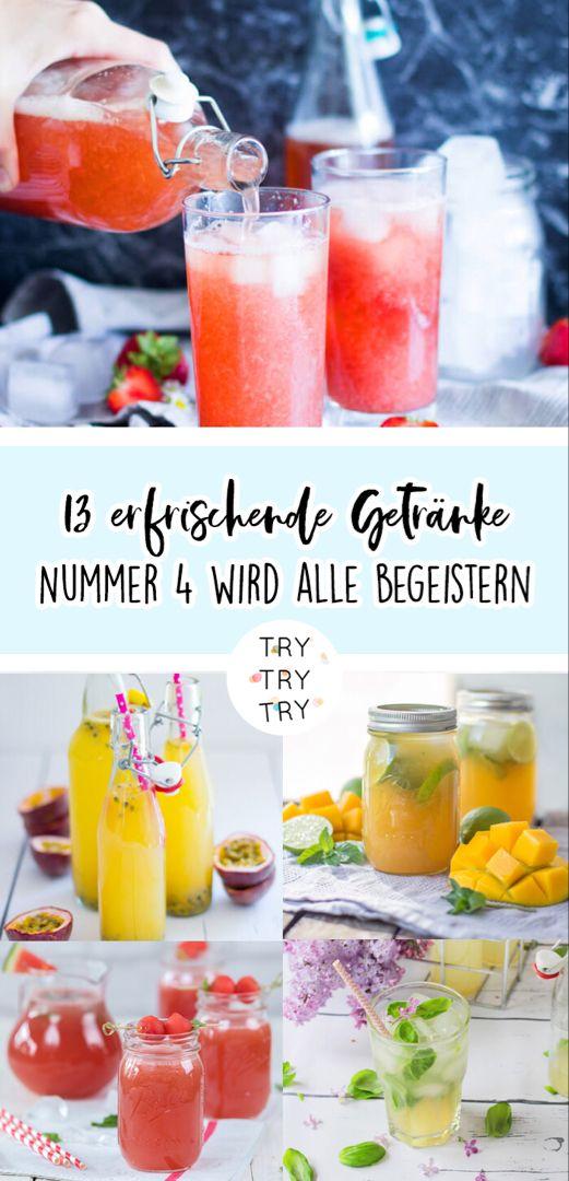 13 erfrischende Getränke für den Sommer – TRYTRYTRY #refreshingsummerdrinks