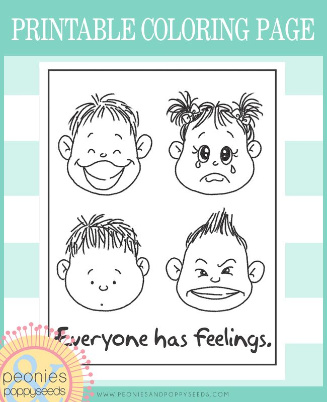 Everyone Has Feelings Free Coloring Page Rubber Clear