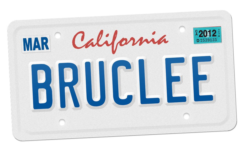 Phone Call with the DMV About a License Plate Which by Chance Spelled Out BRUCLEE