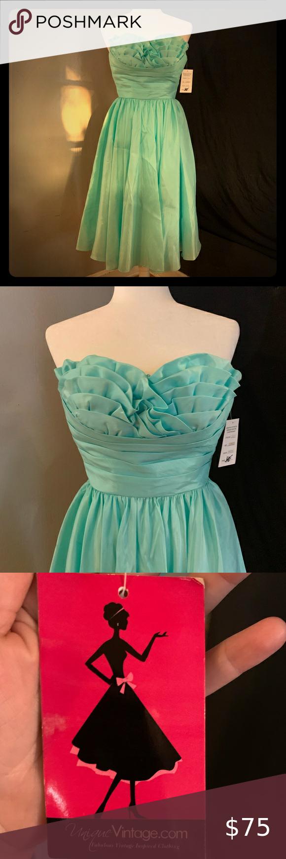 Unique Vintage 1950 S Style Formal Dress In 2020 Unique Vintage Dresses Colorful Dresses Dresses