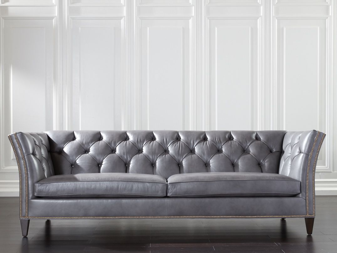 Shelton Leather Sofa, Quick Ship   SOFAS   Living room ...