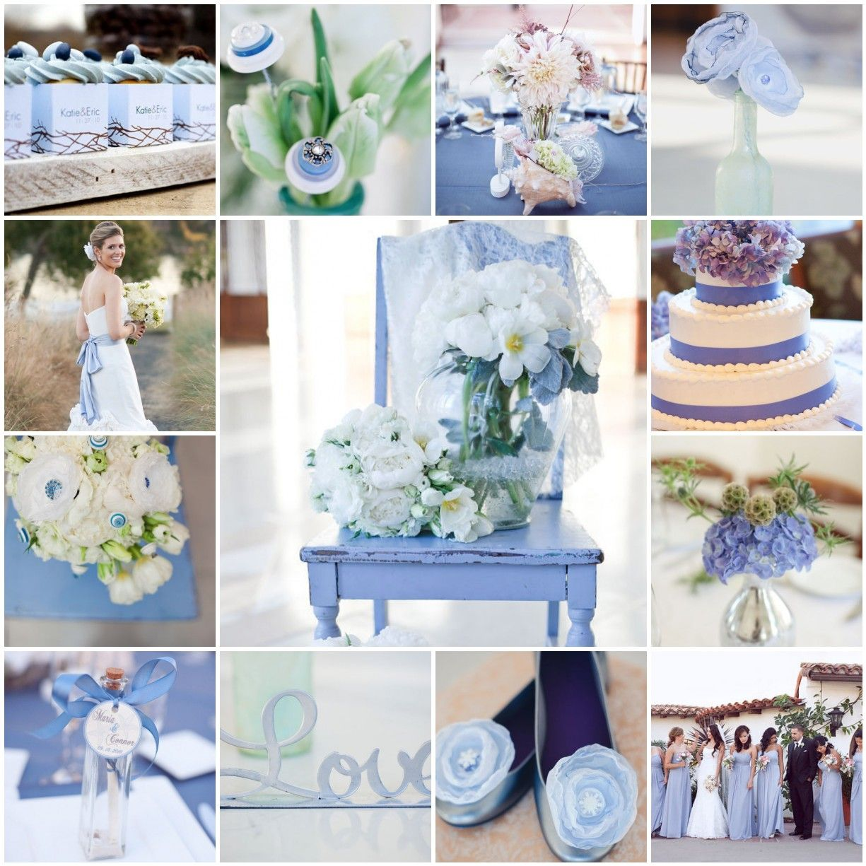 Light Blue Wedding Ideas: Periwinkle Perfection
