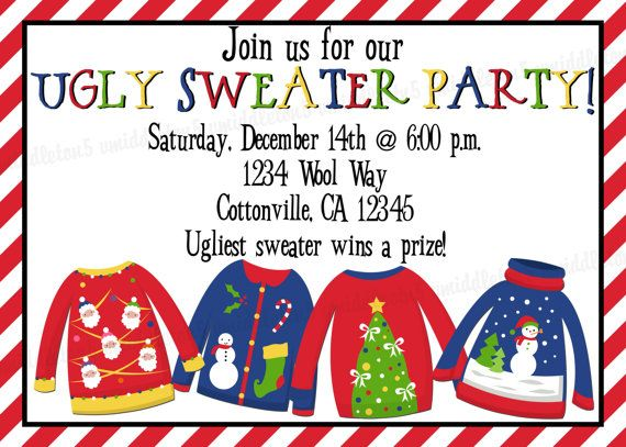 Christmas ugly sweater party invitation print your by vmiddleton5 christmas ugly sweater party invitation print your by vmiddleton5 625 stopboris Choice Image