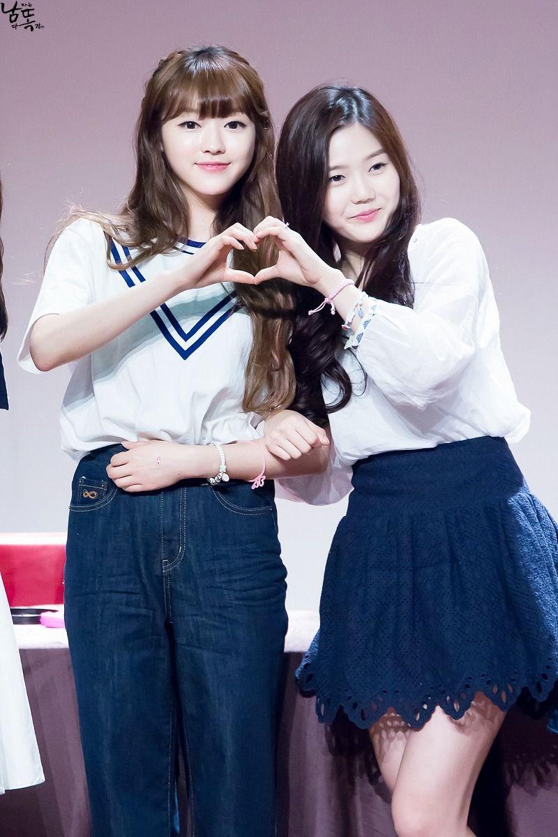 150627 Incheon Fansign Yooa & hyojung #OhMyGirl