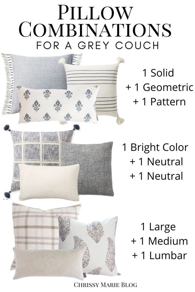Picking the Right Throw Pillows For Your Grey Couch
