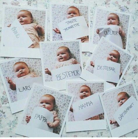 Polaroidbilder Er Flotte Bordkort Barnedab Babyfestideer Festideer