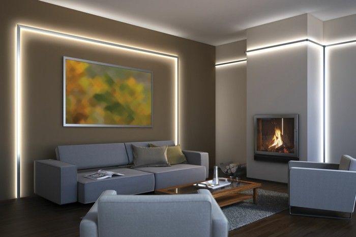 Die led lichtleiste 30 ideen wie sie durch led leisten - Wandbeleuchtung schlafzimmer ...