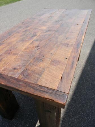 Balsam Millwork [Reclaim Tobacco Barnwood White Oak Table Top]
