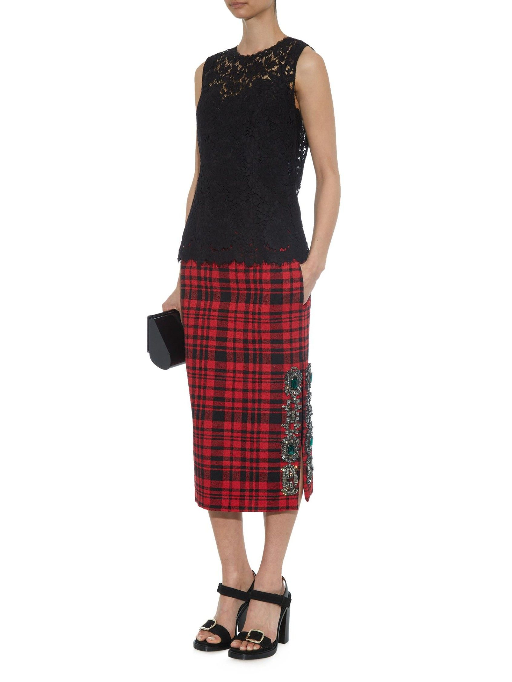 d3f9929ae4 Crystal-embellished plaid skirt | No.21 | MATCHESFASHION.COM ...
