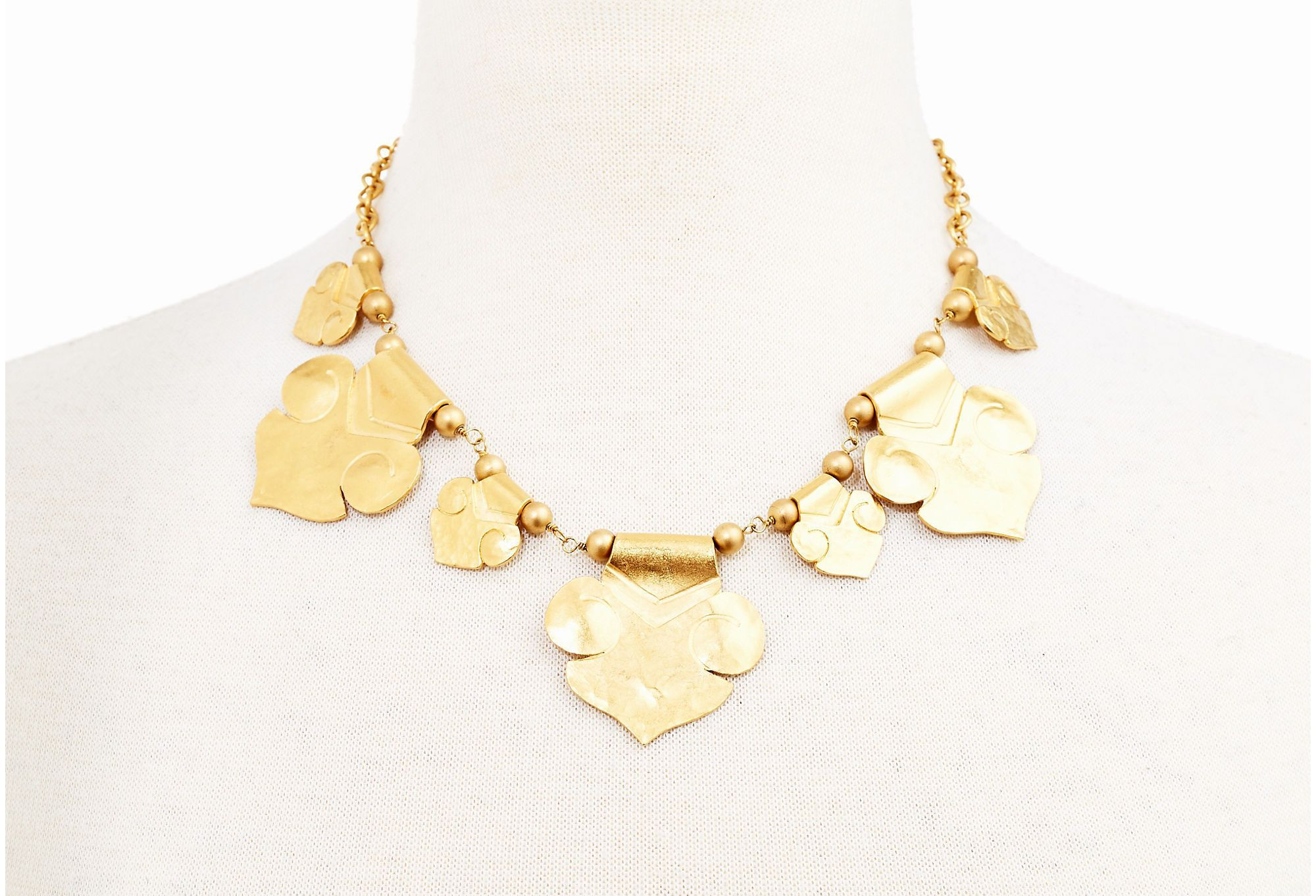 <3  Hammered Roman Statement Necklace | The Perfect Match | One Kings Lane