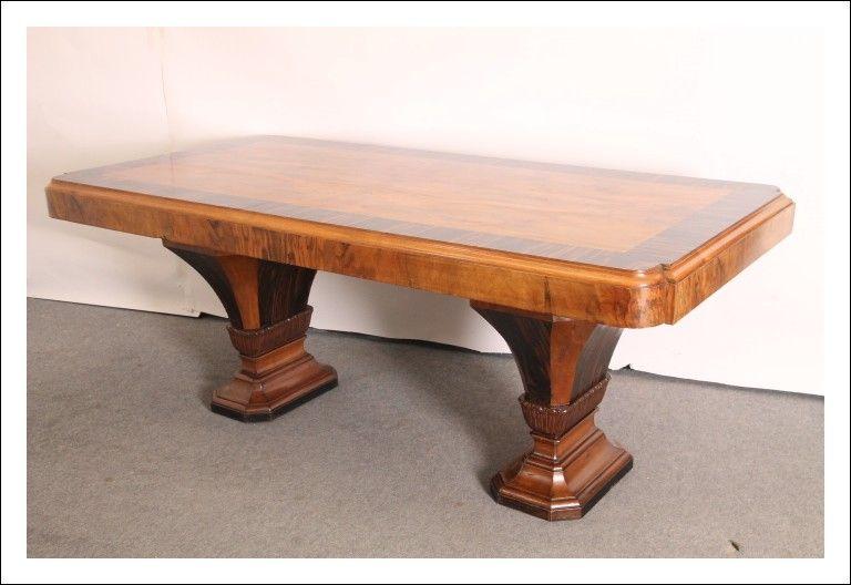 Tavolo Antico Art Deco In Noce E Palissandro 1940 Design Italiano Modernariato Antico Antiqua Tavoli In Legno Tavoli Da Pranzo Tavoli Antichi