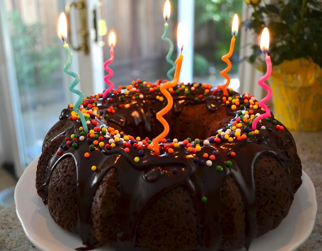 Candle Lit Chocolate Birthday Bundt Cake Minions Party