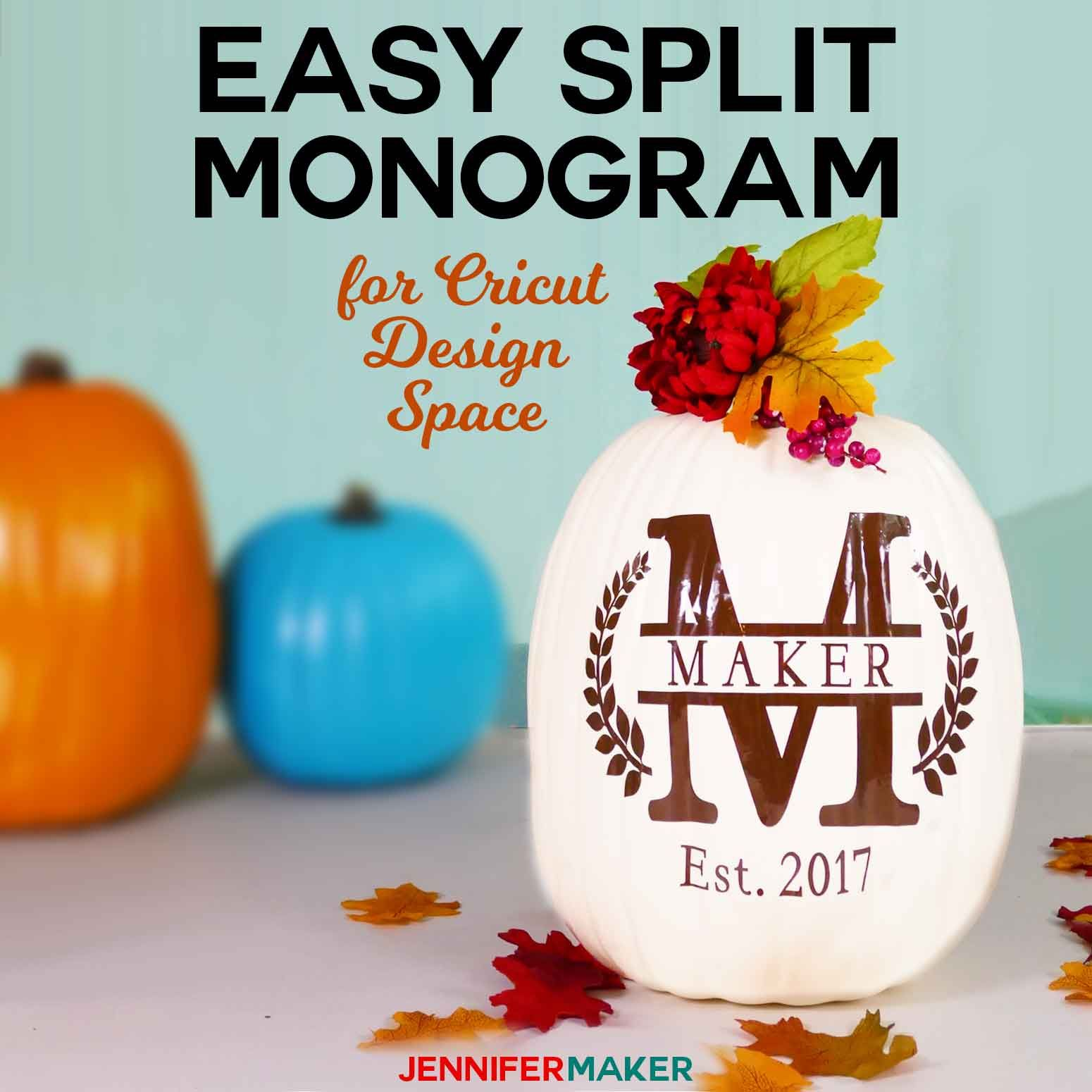 Download Cricut Split Monogram Tutorial + Free SVG | Cricut, Cricut ...