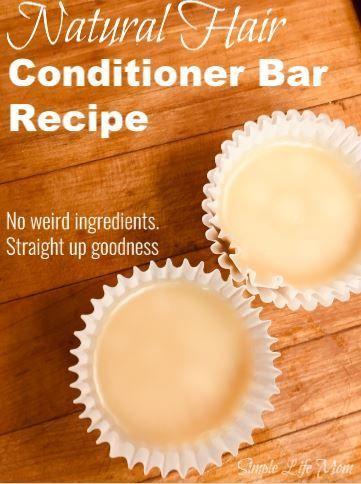 Conditioner Bar Recipe - Natural Handmade Conditioner Bar | Simple Life Mom