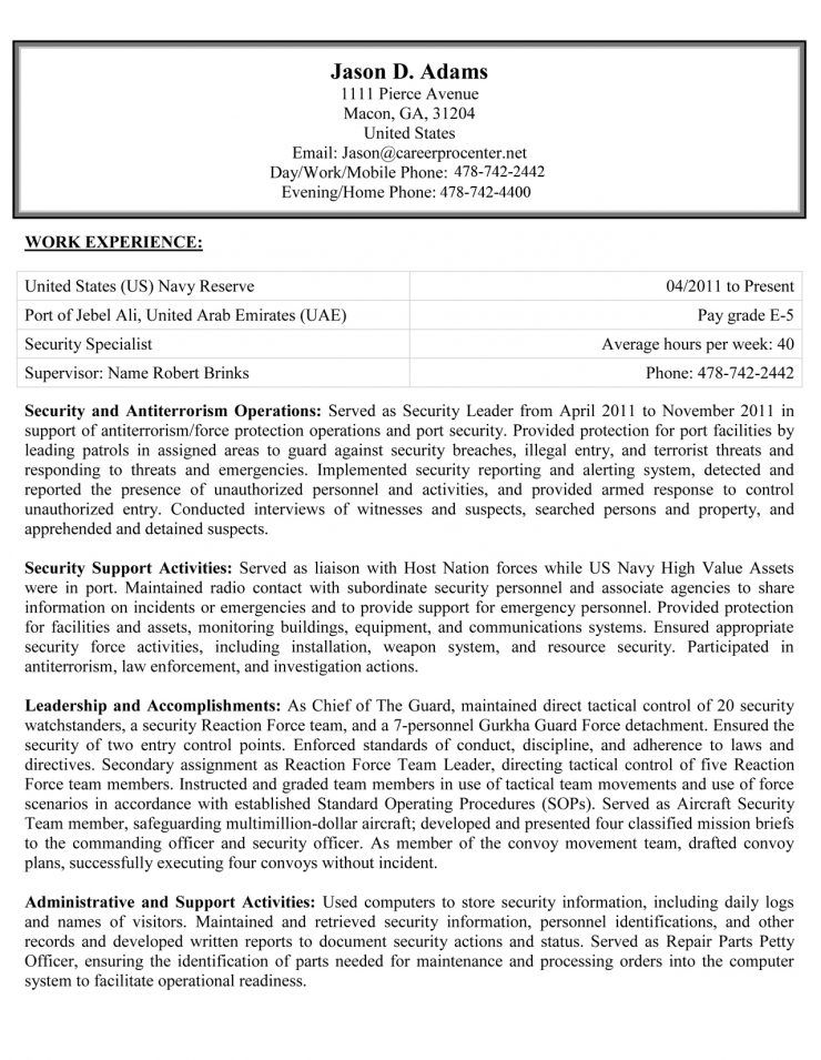 Resume Sample Free Download Sample Resumes Military To Civilian Federal And More Resume Examples For Fede Federal Resume Resume Examples Job Resume Template