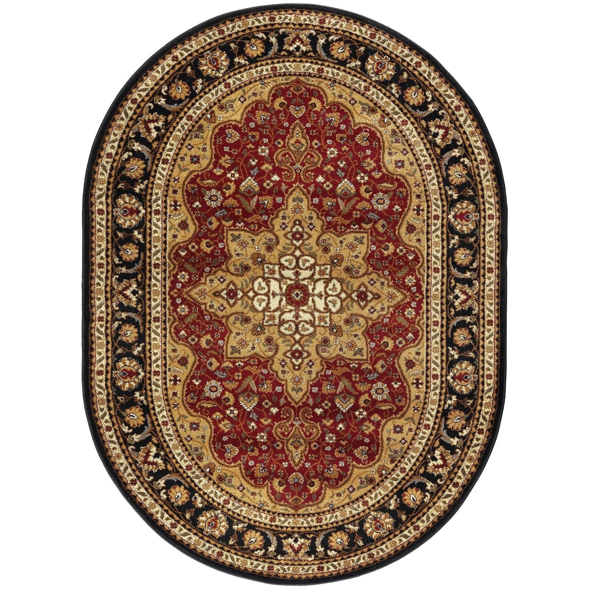 Alise Rugs Rhythm Oval Shaped Traditional Area Rug